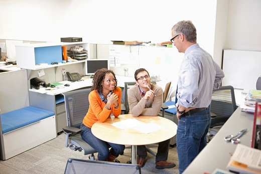 Stock Photo: 1775R-24273 Business people working together in office