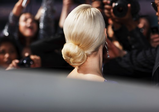 Stock Photo: 1775R-26180 Close up of celebrity´s hairstyle
