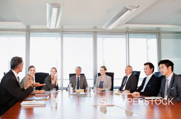 Stock Photo: 1775R-28573 Business people meeting at table in conference room