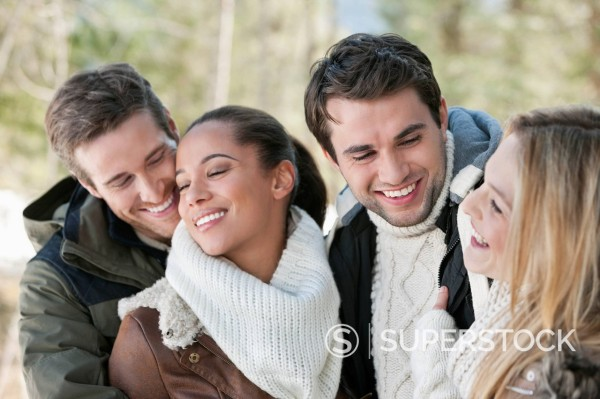 Stock Photo: 1775R-30160 Smiling couples hugging