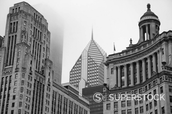 Stock Photo: 1775R-30174 Chicago highrise buildings