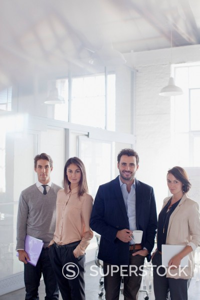 Stock Photo: 1775R-30814 Portrait of smiling business people in office