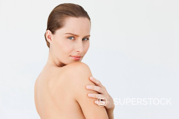 Stock Photo: 1775R-30827 Portrait of woman with bare chest