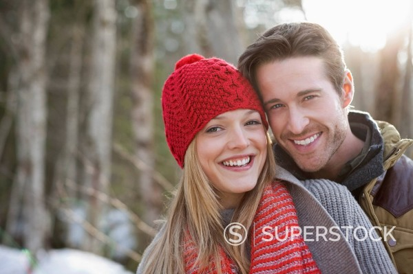 Stock Photo: 1775R-30846 Portrait of smiling couple outdoors