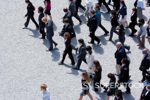 Business people walking : Stock Photo
