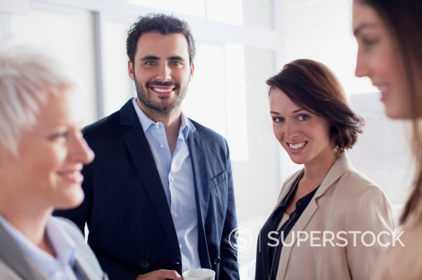 Stock Photo: 1775R-31482 Portrait of smiling business people in office