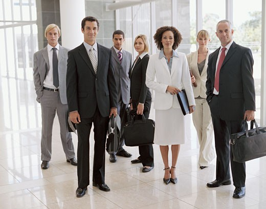 Group of businessmen and businesswomen : Stock Photo