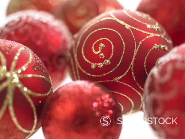 Stock Photo: 1775R-5680 Christmas ornaments