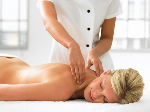 Stock Photo: 1775R-5720 A woman getting a massage