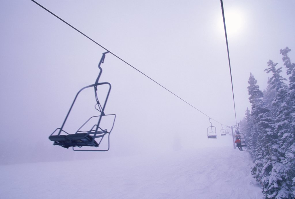 Stock Photo: 1778-7923 ski chairlift