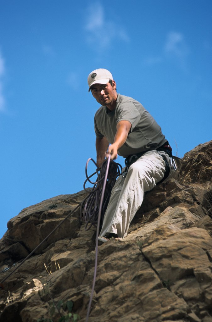 Stock Photo: 1778-8253 Climbing - Huaraz, Peru