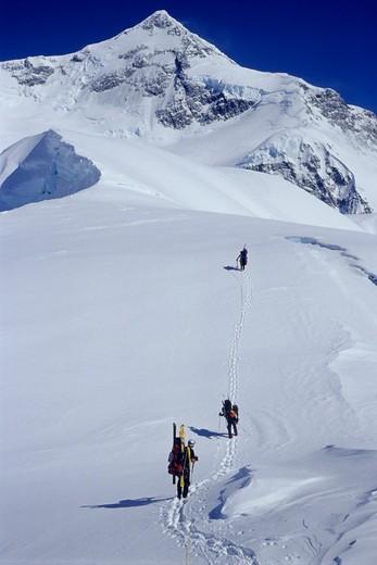 Stock Photo: 1778-9205 Mountaineering, St Elias - Alaska
