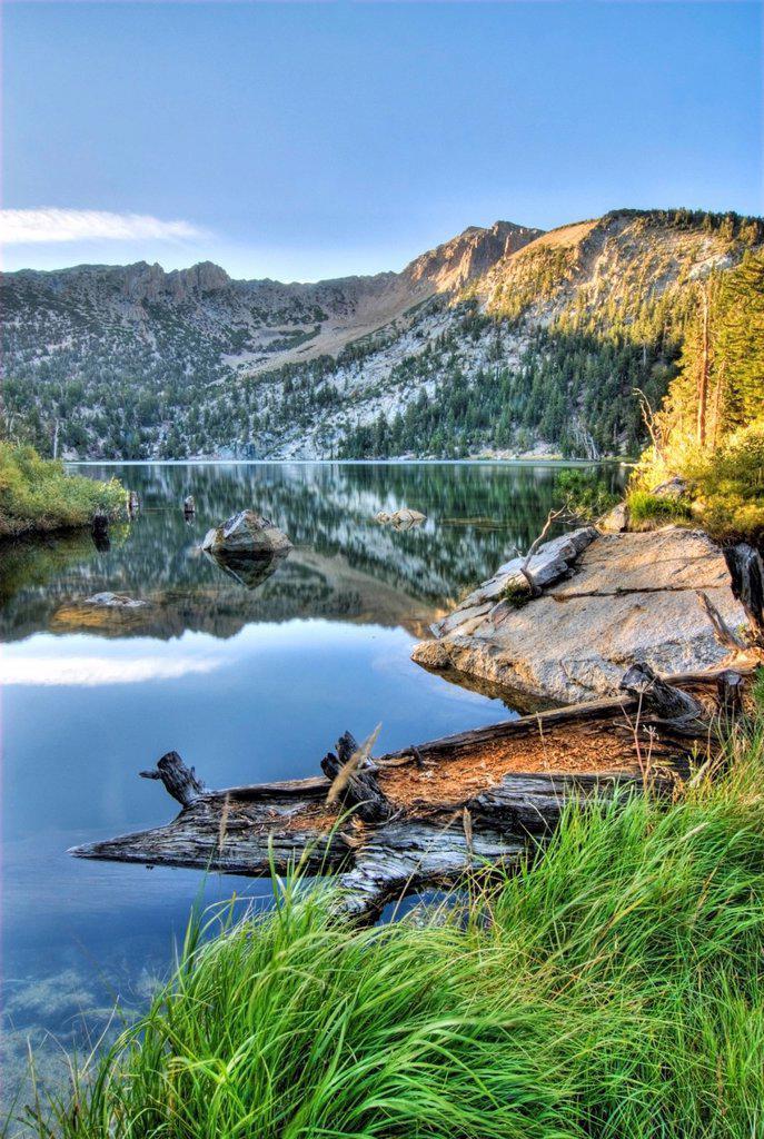 Stock Photo: 1778R-21829 Star Lake at sunrise near South Lake Tahoe, California.