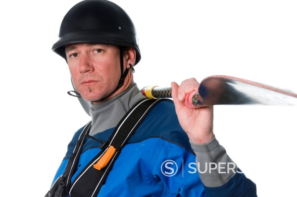 Stock Photo: 1778R-2627 Portrait of elite kayaker.