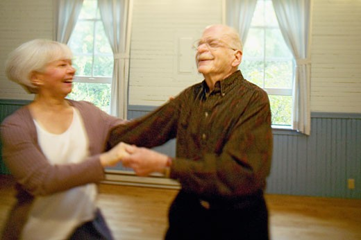 Senior couple dancing : Stock Photo