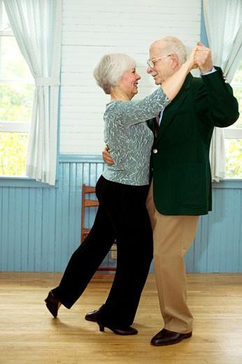 Senior couple dancing : Stock Photo