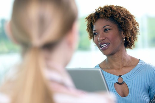 African businesswoman in a meeting : Stock Photo