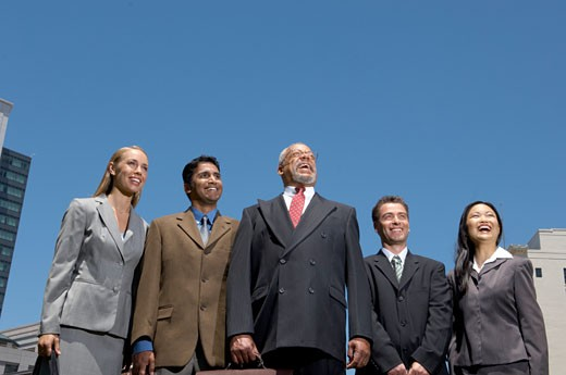 Stock Photo: 1779R-15453 Businesspeople standing outdoors