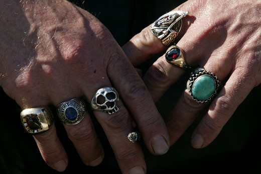Stock Photo: 1779R-1606 Hands with rings