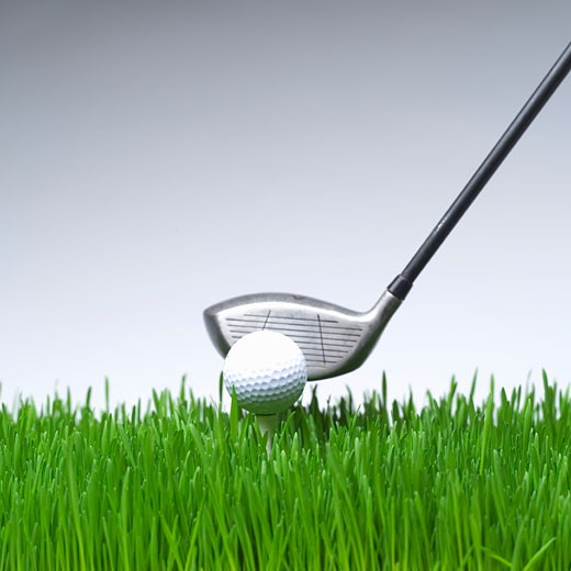 Stock Photo: 1779R-1663 Golf club and golf ball