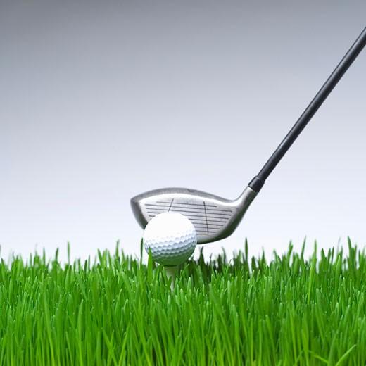 Golf club and golf ball : Stock Photo