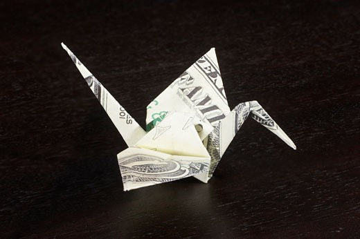 Origami bird : Stock Photo