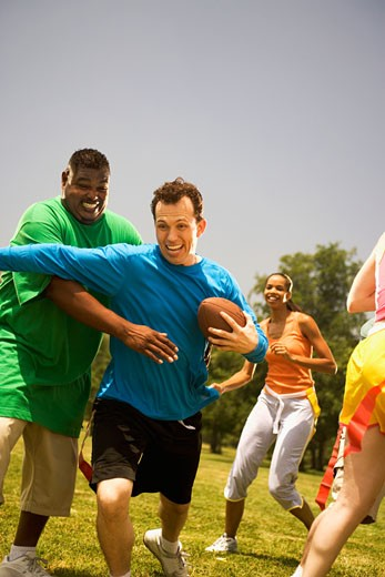 People playing football : Stock Photo
