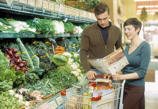 Stock Photo: 1779R-19337 Couple shopping for produce