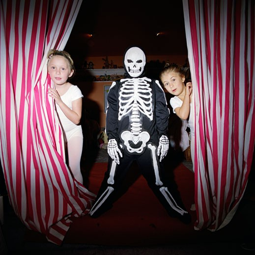 Children dressed up for Halloween : Stock Photo