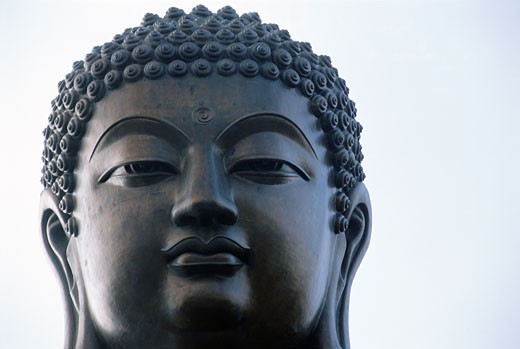 Stock Photo: 1779R-2554 Buddha face, Hong Kong