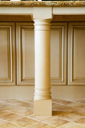 Indoor pillar on kitchen counter : Stock Photo