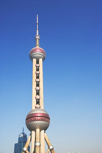 Stock Photo: 1779R-2740 Low angle view of Oriental Pearl Tower, Shanghai, China