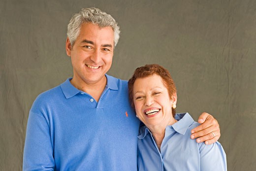 Mother and son smiling : Stock Photo
