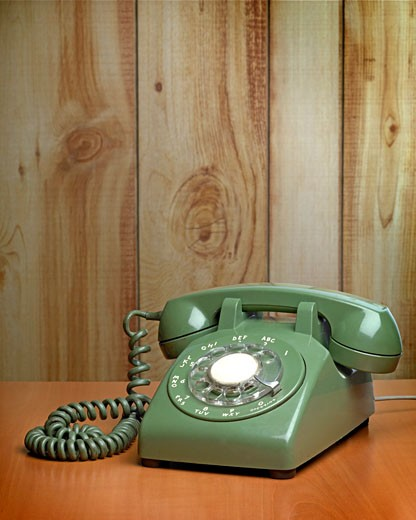 Stock Photo: 1779R-6157 Close-up of old-fashioned telephone