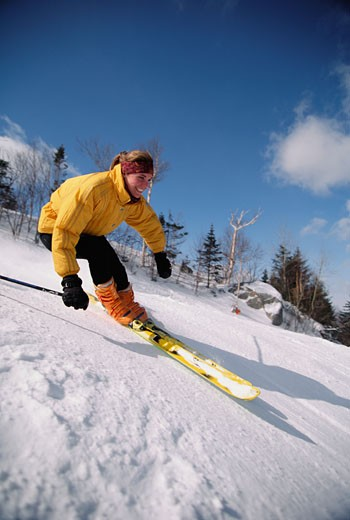 Woman skiing : Stock Photo