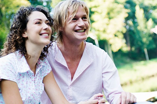 Stock Photo: 1779R-8819 Couple smiling