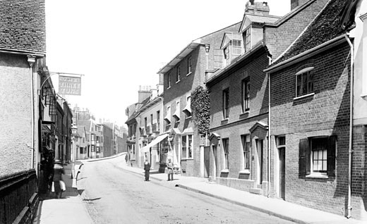 Hitchin, Tilehouse Street 1901 : Stock Photo