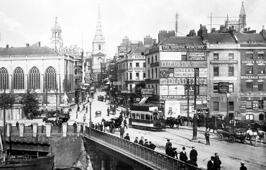 Bristol, Bridge 1901 : Stock Photo