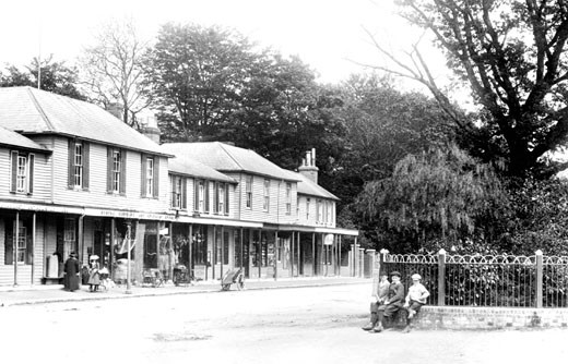 Hawkhurst, Colonnade 1902 : Stock Photo