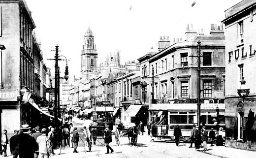 Bath, Southgate Street 1904 : Stock Photo