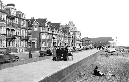 Seaford, Esplanade 1906 : Stock Photo