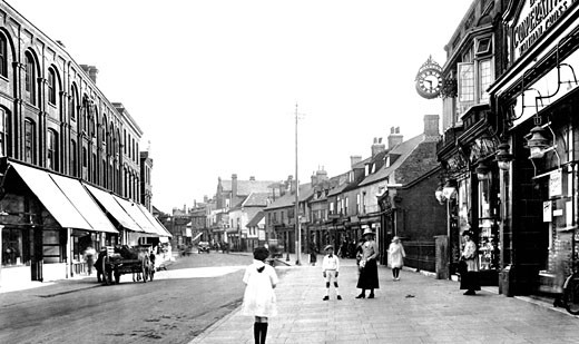 Waltham Cross, High Street 1921 : Stock Photo