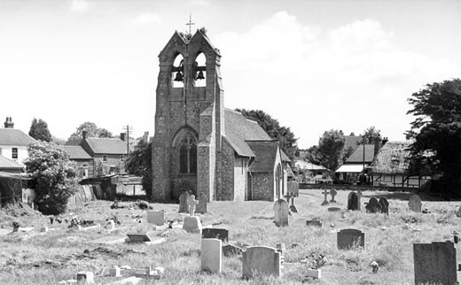 Clanfield, St James' Church c1955 : Stock Photo