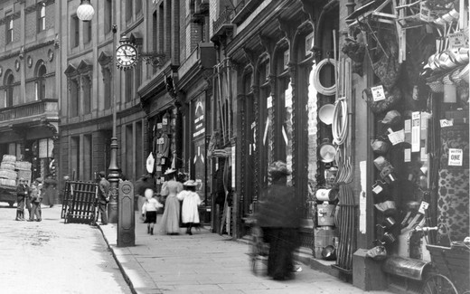 Derby, Shops in Iron Gate 1896 : Stock Photo