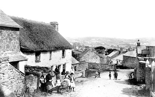St Cleer, the Village 1890 : Stock Photo