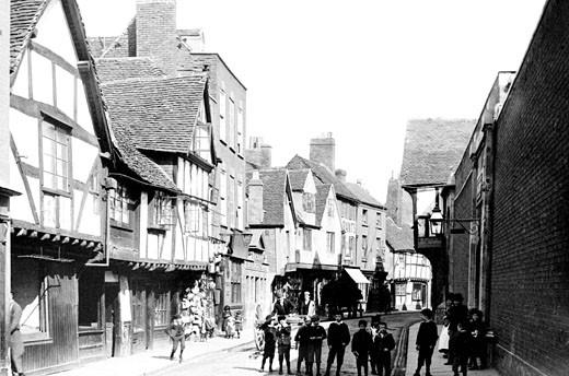 Worcester, Friar Street 1891 : Stock Photo