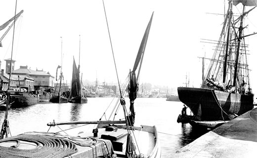 Ipswich, the Docks 1893 : Stock Photo