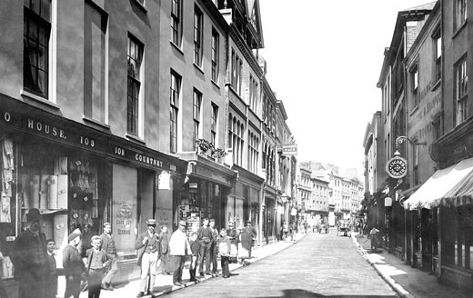 Barnstaple, High Street 1894 : Stock Photo