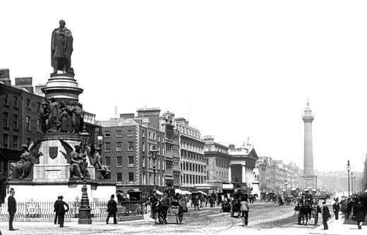 Dublin, Sackville Street 1897 : Stock Photo