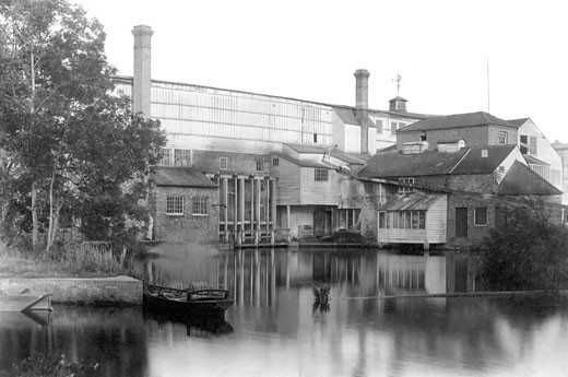 St Neots, Paper Mill at Little Paxton 1897 : Stock Photo